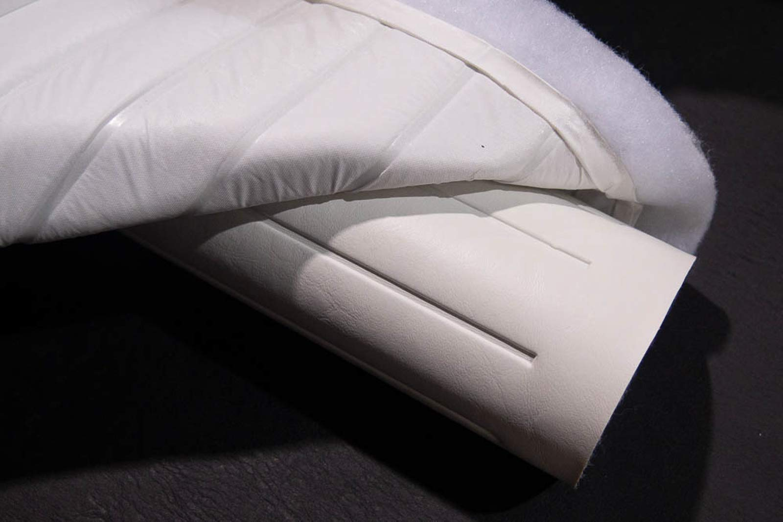 Pleated Marine Vinyl Upholstery Fabric Bright White 54'' Wide by 5 Yards Boat Auto by Bry-Tech Marine1 (Image #5)