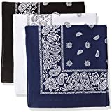 Levi's 3 Pack Printed Bandana Set-Black/White/Navy, One Size