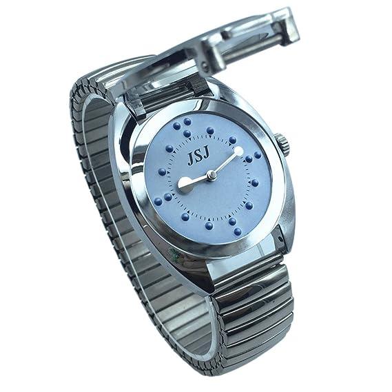 Invidentes Braille De Azul Mayores Para Personas O Reloj Pulsera zMUGqSVp