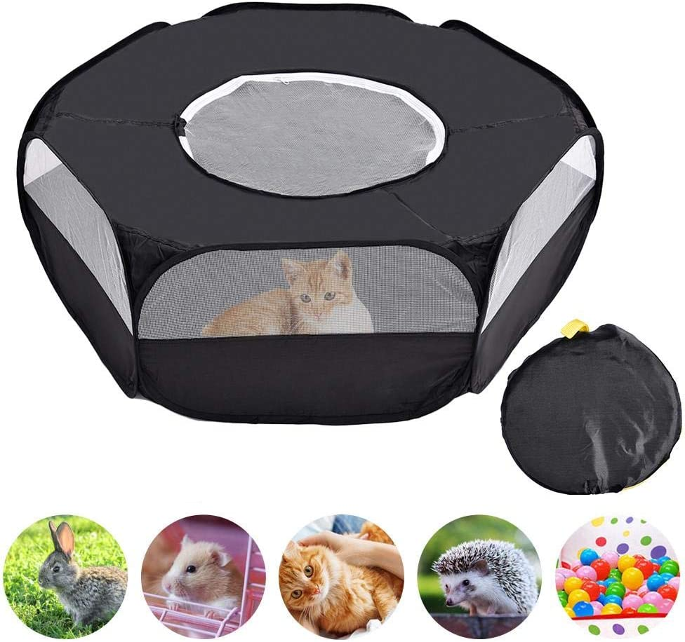 Pet Cage Tent Rabbit Cage Chicken Coop Pet Exercise Fence For Dog Cat Rabbits Hamster Prom-note Pet Playpen Toy Storage Foldable Pet Pens With Top Cover Portable Small Animals Playpen