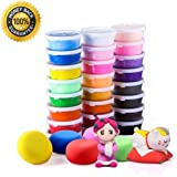 Rubikliss Air Dry Clay, 24 Colors Ultra Light Modeling Clay, Magic Clay DIY Creative Modeling Dough Project Booklet