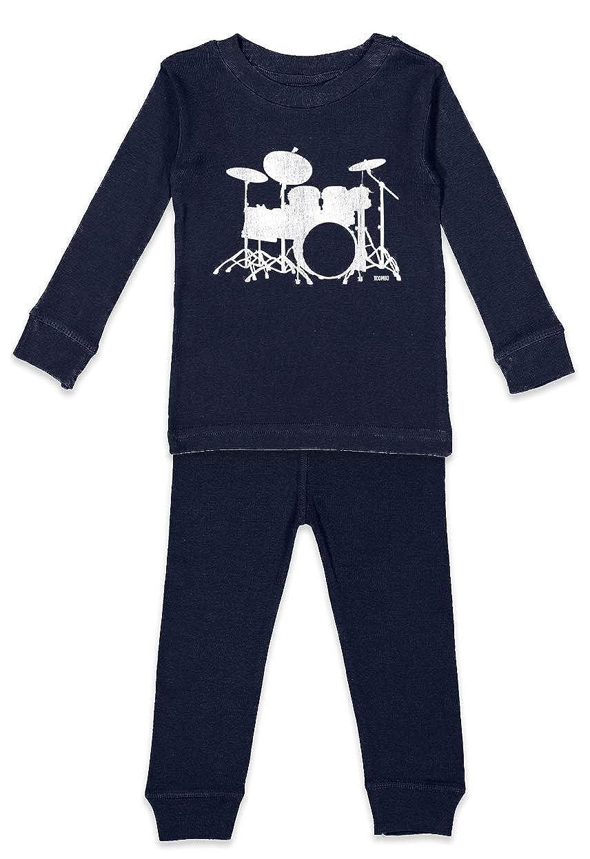 Rock Band Music Kids Pajama Set Drum Silhouette