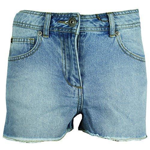 Nuovo Ladies Vita Alta Casual Denim Hot Shorts Donna Moda slq033 Blu Pantaloncini Bleach UUzdwrqH