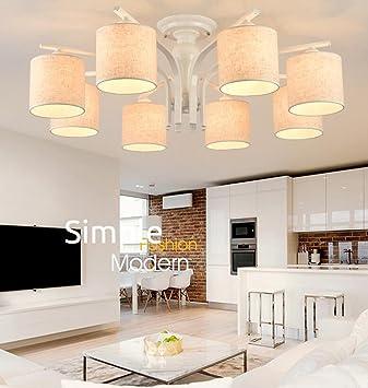 HOMEE Deckenleuchte   Nordic Modern Minimalistisch Wohnzimmer Esszimmer  Höhle Schlafzimmer Gemütlich Tuch Eisen Decke