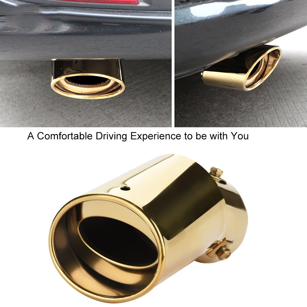 KIMISS 2.32 Tubo de cola del coche Silenciador de escape curvado Modificado para Coche