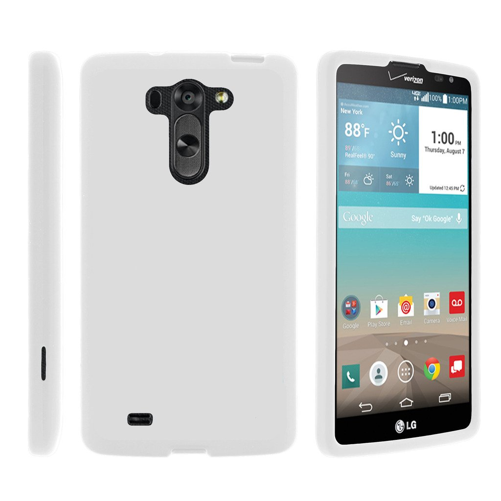 TurtleArmor | Compatible with LG G Vista Case | LG G Pro 2 Lite Case [Slim Duo] Slim Snap On 2 Piece Hard Cover Protector Case Girl on White - White