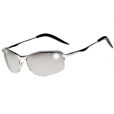 CASPAR SG010 Lunettes de soleil sportive style Matrix unisexe,  Couleur argenté miroir argenté 2934c044a108