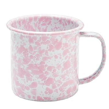 Enamelware Coffee Mug - Pink Marble