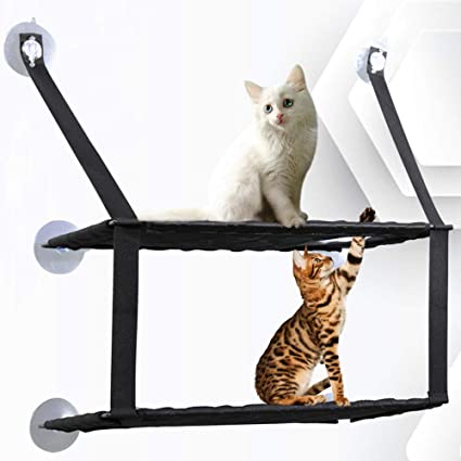 Liuxiaoqing Hamaca para Gatos con Ventosa para Colgar Ventanas, con Ventosa para Gatos y Gatos