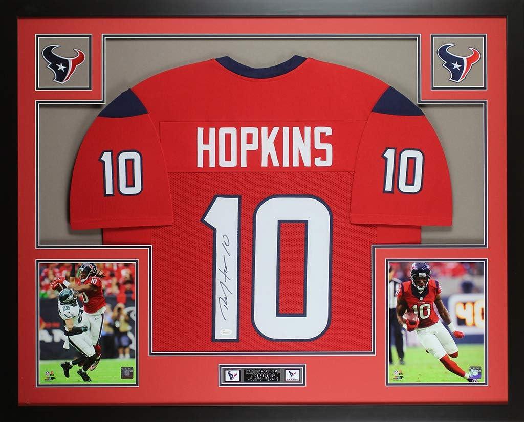 Amazon.com: DeAndre Hopkins Autographed Red Houston Jersey ...
