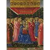 polyster Canvas ,the Reproductions Art Decorative Canvas Prints of oil painting 'Benozzo Gozzoli The Virgin and Child with Angels ', 24 x 33 inch / 61 x 83 cm is best for gift for bf and gf and Home decoration and Gifts