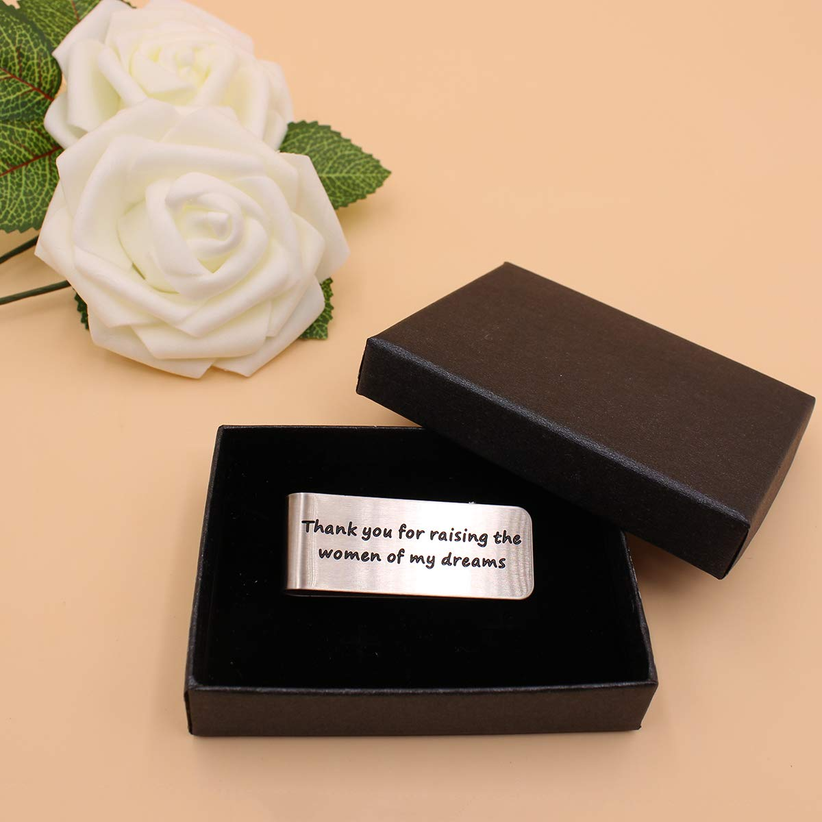 Money Clip Dad Wedding gift from The Groom,Idea Gifts Present for Man Dad Father Father of The Bride Thank you for raising the women of my dreams/,Wedding Gift