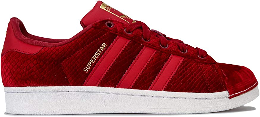 adidas Superstar W Basket Mode Femme Rouge: Amazon.fr ...