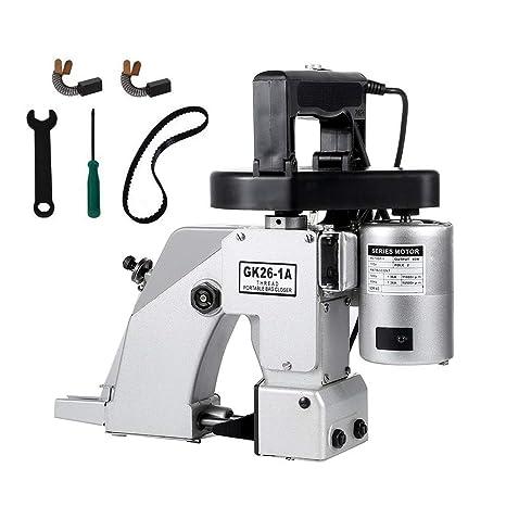 HUKOER Máquina para cerrar bolsas de mano Manual Bolsa eléctrica Bolsa de costura Máquina de coser de costura Máquina de coser eléctrica portátil 220V ...