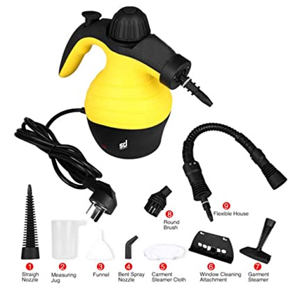 Smiledrive Handheld Steam Cleaner, White and Black