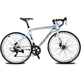 Cyrusher XC760 Races Road Bike Commuting Cycling 52cm Aluminium Frame 14 Speed 700C Shimano Shifting System Disc Brakes