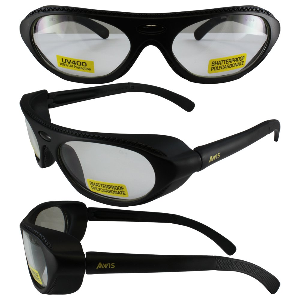 RAWHIDECL Global Vision Eyewear Rawhide Clear Lens ANSI Z87.1+ Eye Protection Including Side Buffers by RAWHIDECL