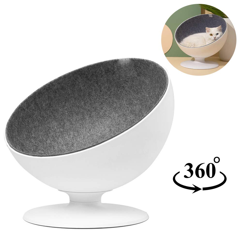 JLCYYSS Cat Bed That Can redate 360 Degrees, Cat Swivel Chair, Removable Lining (40.8  38.6  37Cm)