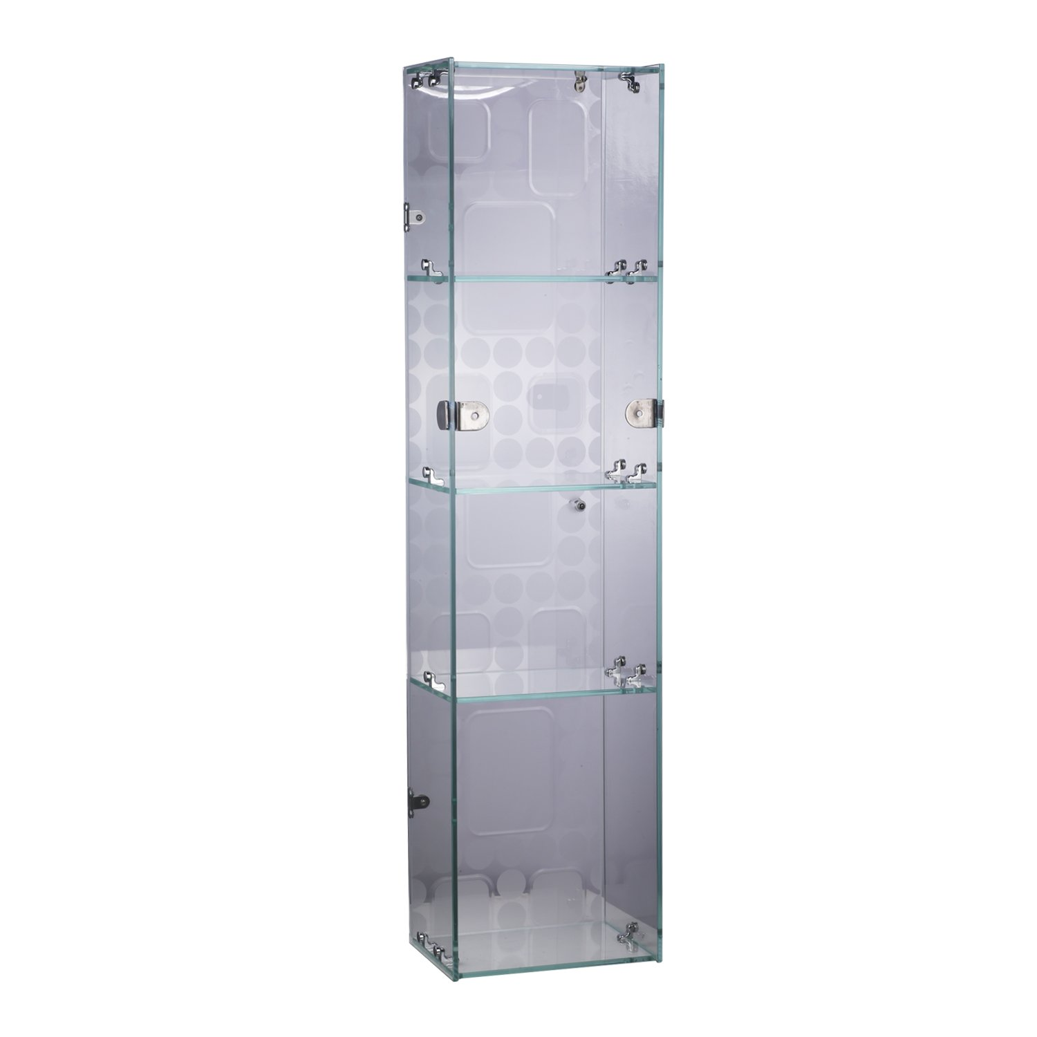 Awesome Homcom Stainless Steel 4 Tier Glass Storage Cabinet Wall Download Free Architecture Designs Scobabritishbridgeorg