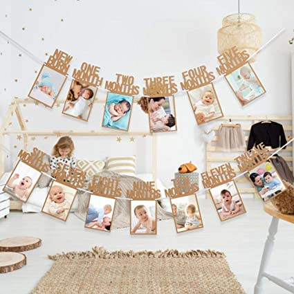 Amazon.com: Hbtop 1er cumpleaños Baby Photo Banner ...