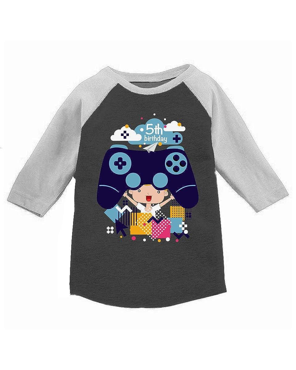Awkward Styles Video Game Toddler Raglan Gamer Birthday Party 5 Year Old Birthday Shirt