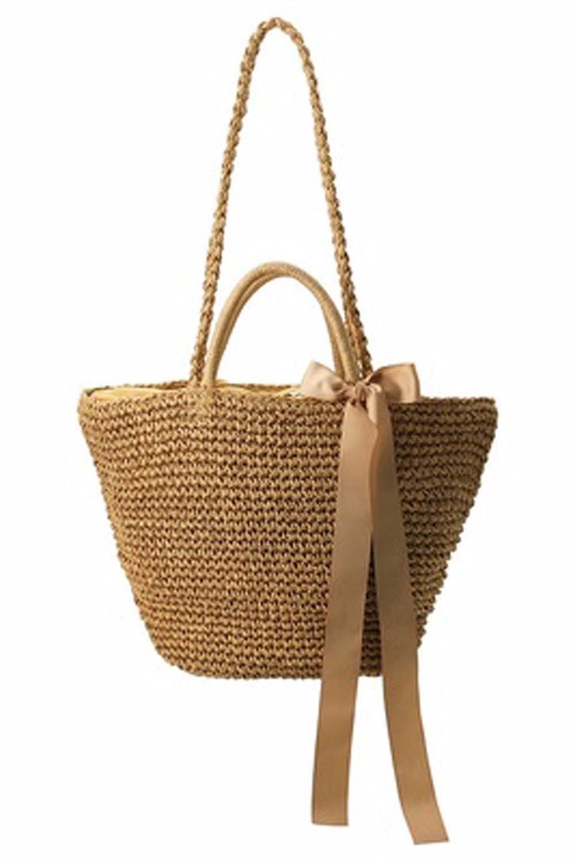 GTVERNH-der Frauen/Mode Handtasche/All-Match/Schräge aus Tasche Schleife Stroh aus Tasche die Tasche Urlaub aus geweben Tasche Beach - Tasche.