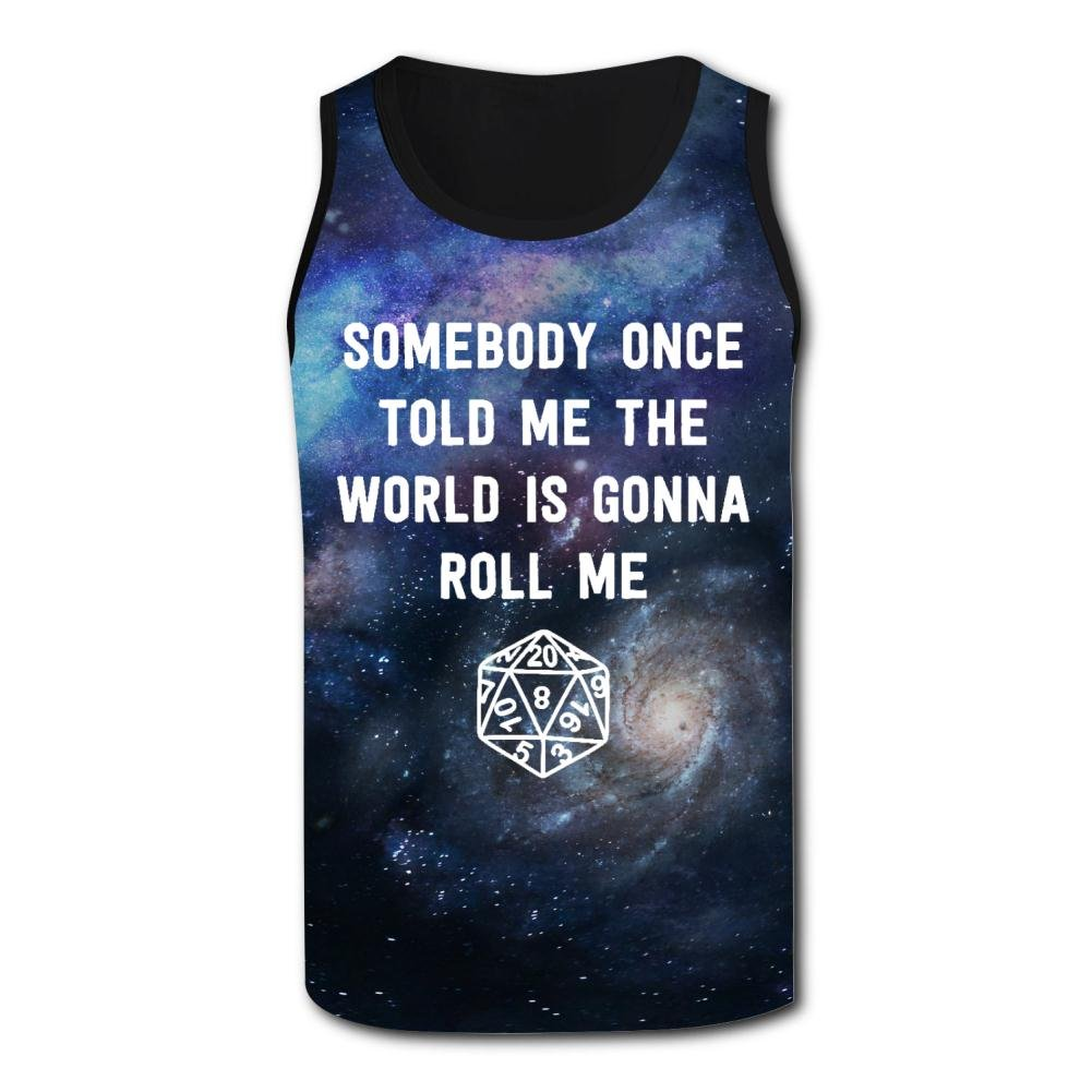 Aslgisy Somebody Once Told Me The World is Gonna Roll Me Mens Breathable Vest