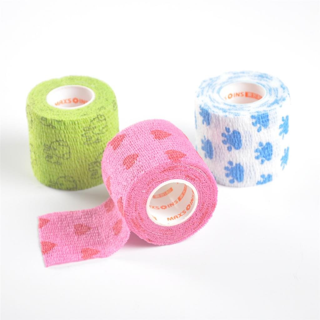 Sharplace Bandage Wrap Tape Cover for Dogs Cat//Emergency Multi-function Non-woven Stick Bandaging Strap Belt