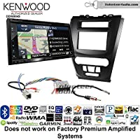 Volunteer Audio Kenwood Excelon DNX694S Double Din Radio Install Kit with GPS Navigation System Android Auto Apple CarPlay Fits 2010-2012 Fusion (Black) (Not for factory amplified systems)