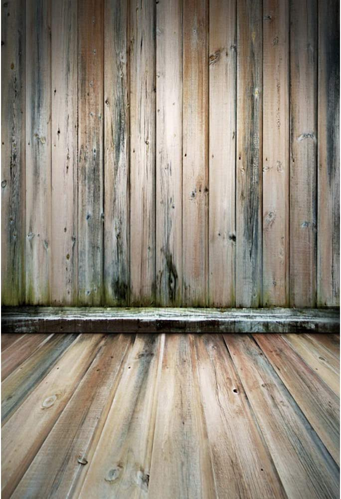 OFILA Rustic Wood Backdrop 6x4ft Wood Block Photos Background Wooden Wall Photos Hardwood Floor Background Wooden Plank Board Rustic Party Decoration Kids Photo Shoot Newborn Photography Props