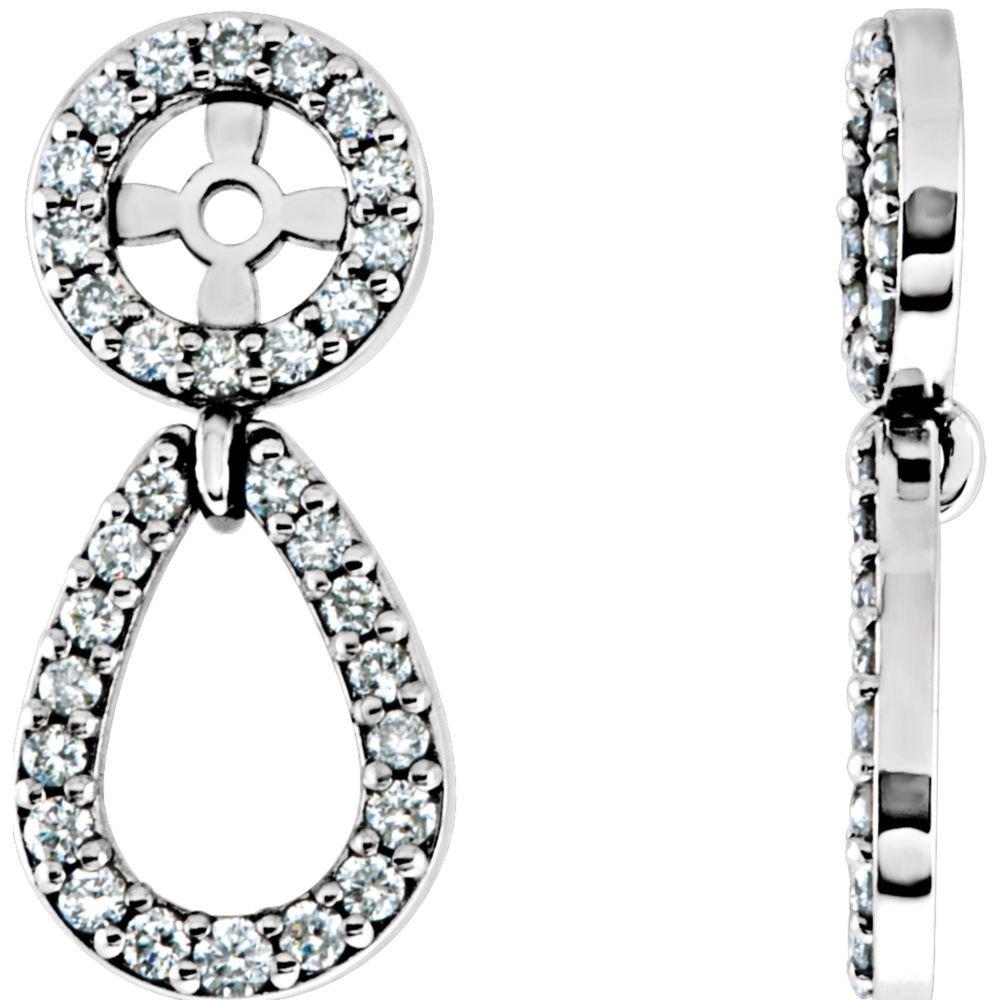 STU001- 14K White 1/3 CTW Diamond Earring Jackets by STU001-