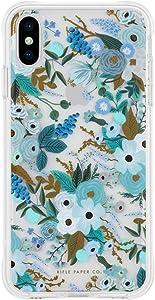 Rifle Paper CO. iPhone X/XS Case - Gold Foil Accents - Garden Party Blue
