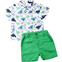 MAINESAKA Toddler Boys Gentleman Clothing Set Polo Shirt Suspenders Short Pants Overalls