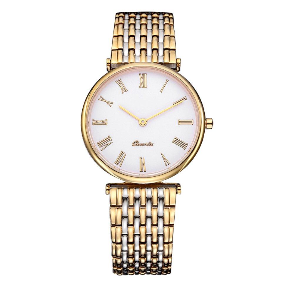 GAOY Watches Wristwatch Couple Watches Mechanical Lovers Quartz Waterproof Sports Rhinestones Steel Belts Belts Mesh Belts,A