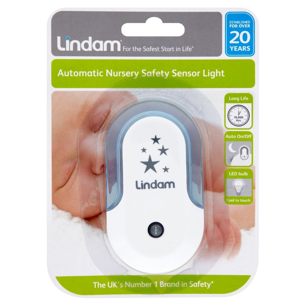 Lindam Nursery Night Light Set (LED Bulb, for Use in the Nursery, Hallway or on Landings) - Blue 05125801