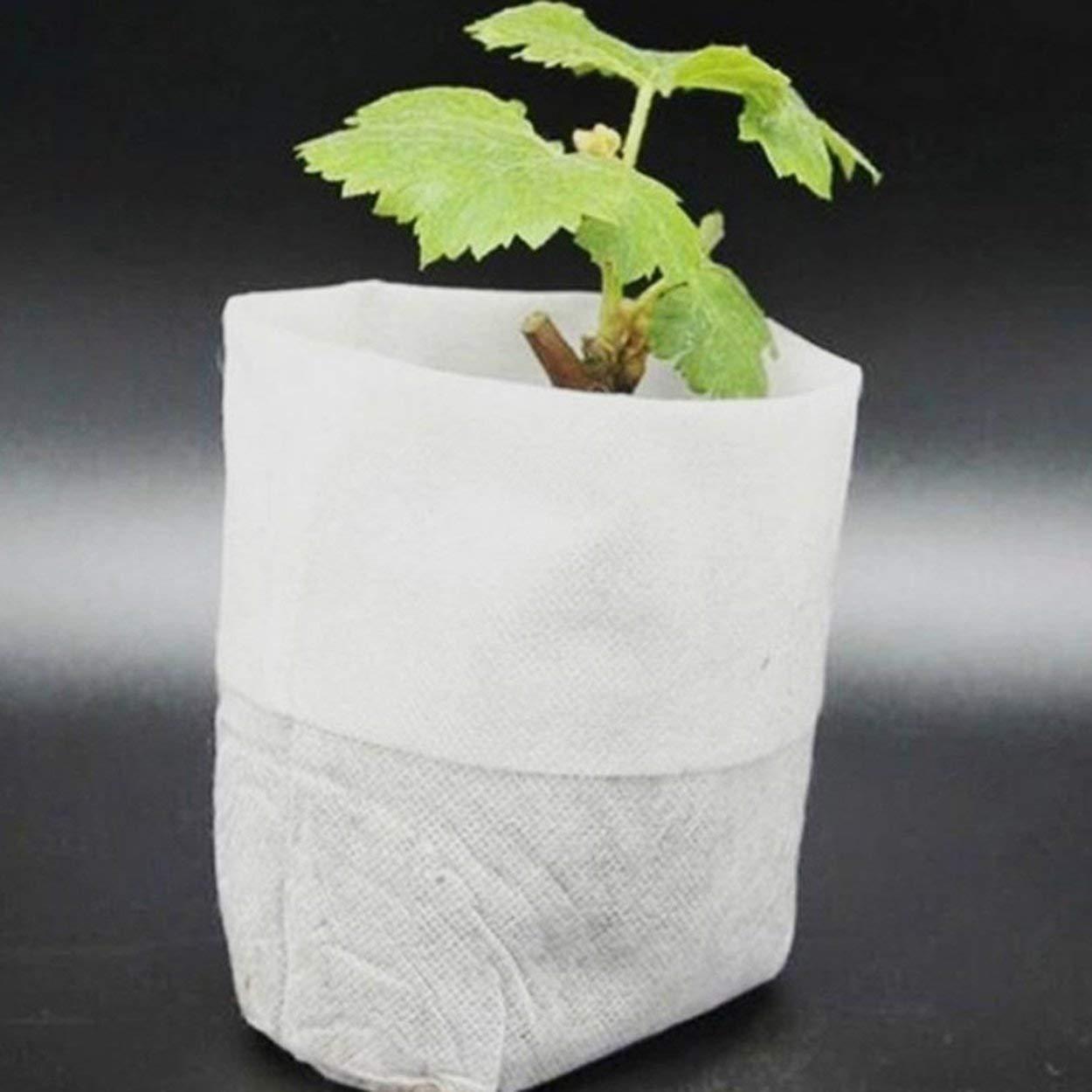 Lofenlli 100PCS Sac Biod/égradable Graine Sacs De P/épini/ère P/épini/ère Pots De Fleurs Transplantation De L/égumes Pots D/élevage Jardin Sac De Plantation