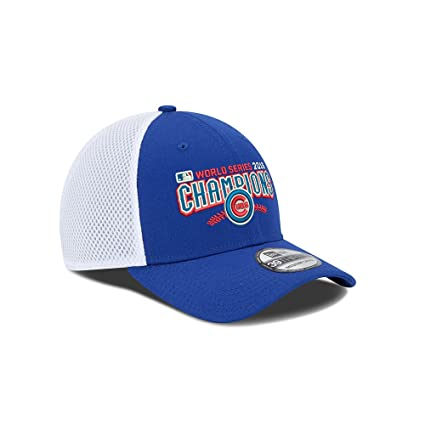 dbe31d01976 New Era Chicago Cubs World Series Champs Perf Circle 39THIRTY Hat Cap  Small Medium