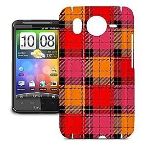 Phone Case For HTC Desire HD - Tartan Love Snap-On Hardshell