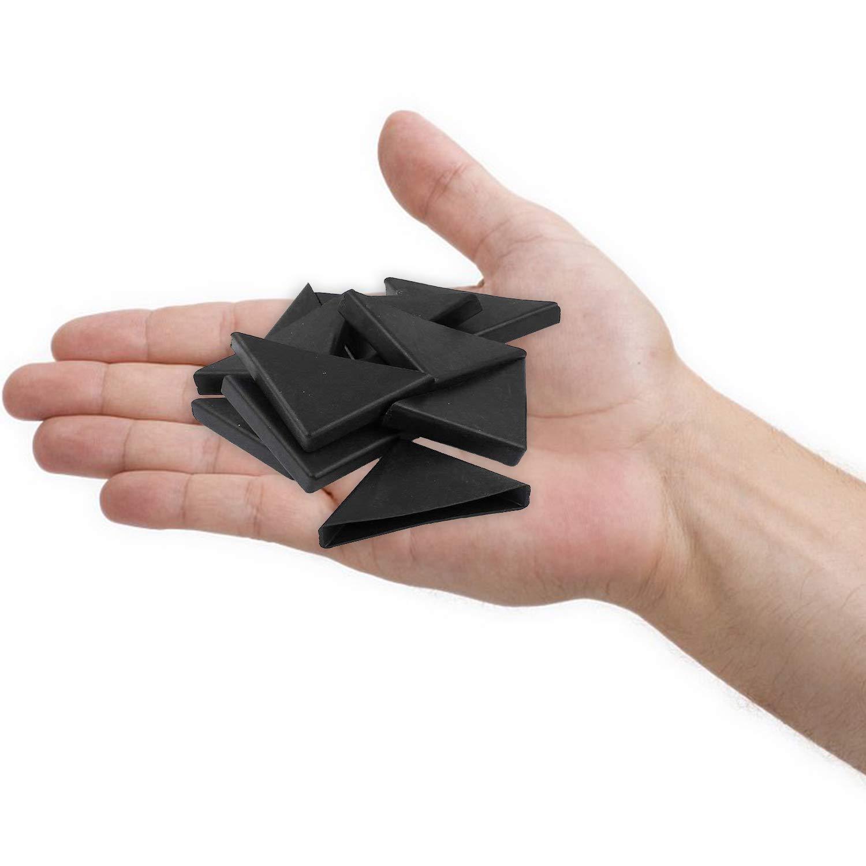 8mm x 50mm 20 Stk Shape Dreieckiges Glastisch-Eckenschutzkissen YouU Eckenschutz