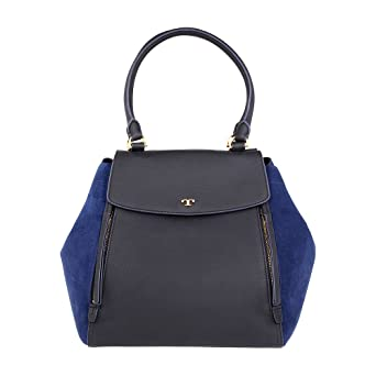 85f7d154572 Amazon.com  Tory Burch Half-Moon Ladies Small Leather   Suede Tote ...