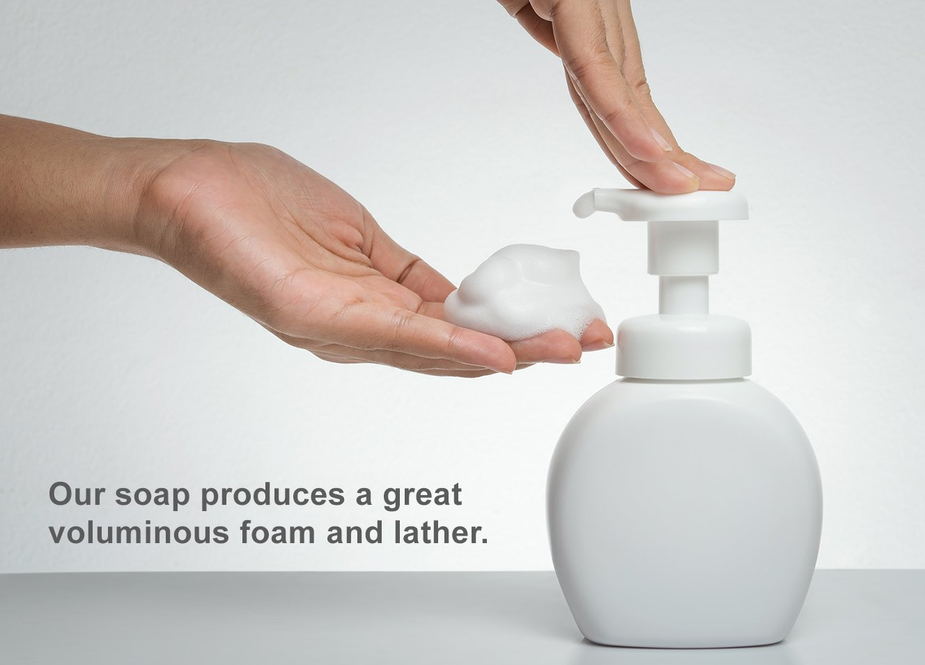 Clear Consumption Natural Lavender Foaming Hand Soap Refill 1/2 Gallon (64 oz) - Made from USDA Organic Vegetable Oils - For Commercial & Personal Foaming Soap Dispensers by Clear Consumption (Image #7)