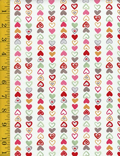 Hearts Cotton Quilt Fabric - 6
