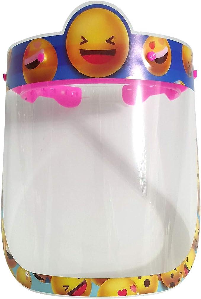 Salalooks 5 St/ück Kinder Gesichtsschutz Visier aus Kunststoff Gesichtsvisier Face-Shields Safety Spuck-Schutz Premium Transparent Schutzvisier Gesichtsschild Wiederverwendbar A