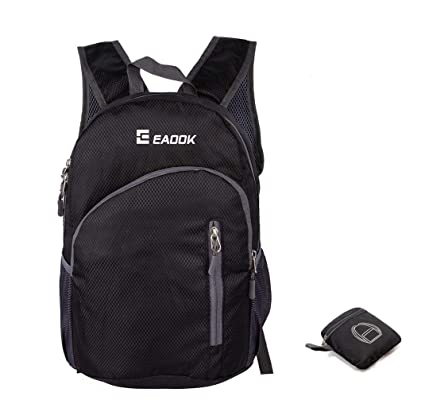 7b5ae4e49f Amazon.com  Foldable Backpack 20-35L Ripstop Lightweight Packable Backpack  Waterproof(BLACK  EAOOK Outdoor sport