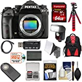 Pentax K-1 Mark II Full Frame Wi-Fi Digital SLR Camera Body 64GB Card + Battery + Flash + Backpack + Tripod + Kit