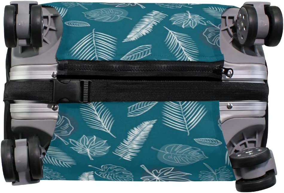 Banana Leaves Sweet Silk Traveler Lightweight Rotating Luggage Protector Case Can Carry With You Can Expand Travel Bag Trolley Rolling Luggage Protector Case
