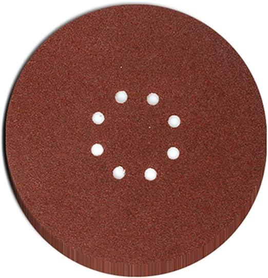 60 Grit Aluminium Oxide 2 Tip Detail Sanding Sheets 140mm Hook /& Loop 10 PACK