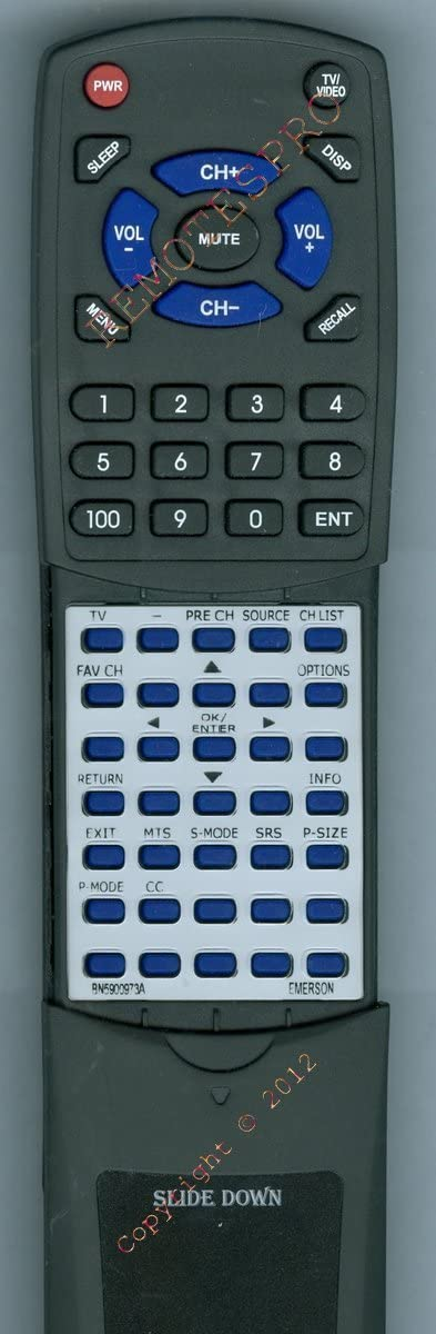 Replacement Remote Control for Emerson BN5900973A, PLP42W10A