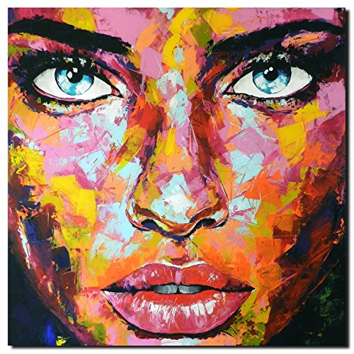 original unikat painting abstract modern acrylic face canvas artwork