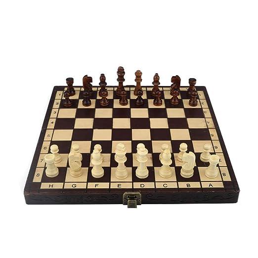ESPLAY Juego de Tablero de ajedrez para niños y Adultos. Juego de ...
